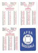 1941 APBA Season - PITTSBURGH PIRATES Team Set