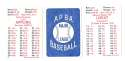 1947 APBA Season - CHICAGO WHITE SOX Team Set