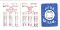 1947 APBA Season - DETROIT TIGERS Team Set