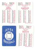 1947 APBA Season - NEW YORK YANKEES Team Set