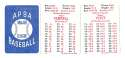 1947 APBA Season - WASHINGTON SENATORS (Twins) Team Set