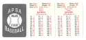 1953 APBA (Reprint) Season (Pencil Marks) CHICAGO CUBS Team Set