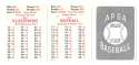 1953 APBA (Reprint) Season (Pencil Marks) CINCINNATI REDS Team Set
