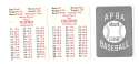 1953 APBA (Reprint) Season (Pencil Marks) DETROIT TIGERS Team Set