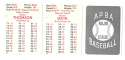 1953 APBA (Reprint) Season (Pencil Marks) NEW YORK GIANTS Team Set