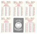 1953 APBA (Reprint) Season (Pencil Marks) NEW YORK YANKEES Team Set w/ Mickey Mantle