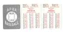 1953 APBA (Reprint) Season (Pencil Marks) WASHINGTON SENATORS (TWINS) Team Set