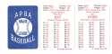 1985 APBA Season w/ EX Players - TORONTO BLUE JAYS Team Set