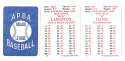 1985 APBA Season w/ EX Players - SEATTLE MARINERS Team Set