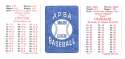 1985 APBA Season w/ EX Players - SAN DIEGO PADRES Team Set