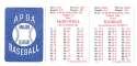 1985 APBA Season w/ EX Players - TEXAS RANGERS Team Set