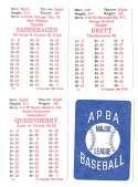 1985 APBA Season w/ EX Players - KANSAS CITY ROYALS Team Set