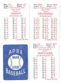 1985 APBA Season w/ EX Players - DETROIT TIGERS Team Set
