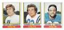 1974 Topps Football Team Set VG+ BALTIMORE COLTS