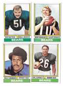 1974 Topps Football Team Set VG+ CHICAGO BEARS