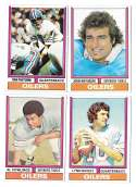 1974 Topps Football Team Set VG+ HOUSTON OILERS