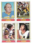 1974 Topps Football Team Set VG+ LOS ANGELES RAMS