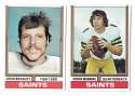 1974 Topps Football Team Set VG+ NEW ORLEANS SAINTS