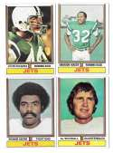1974 Topps Football Team Set VG+ NEW YORK JETS