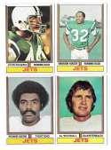1974 Topps Football Team Set VG+ NEW YORK JETS