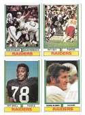1974 Topps Football Team Set VG+ OAKLAND RAIDERS