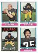 1974 Topps Football Team Set VG+ PITTSBURGH STEELERS