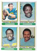 1974 Topps Football Team Set VG+ SAN DIEGO CHARGERS