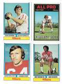 1974 Topps Football Team Set VG+ SAN FRANCISCO 49ERS