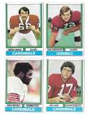 1974 Topps Football Team Set VG+ ST LOUIS CARDINALS