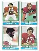1974 Topps Football Team Set VG+ ST LOUIS CARDINALS