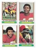 1974 Topps Football Team Set VG+ WASHINGTON REDSKINS