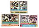 1974 Topps Football VG+ 3 card Playoff Subset