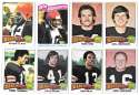1975 Topps Football Team Set (VG Condition) - CINCINNATI BENGALS