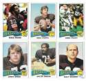 1975 Topps Football Team Set (VG Condition) - CLEVELAND BROWNS