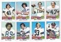 1975 Topps Football Team Set (VG Condition) - DALLAS COWBOYS