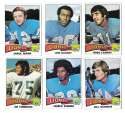 1975 Topps Football Team Set (VG Condition) - DETROIT LIONS