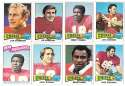 1975 Topps Football Team Set (VG Condition) - KANSAS CITY CHIEFS