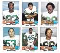 1975 Topps Football Team Set (VG Condition) - NEW YORK JETS