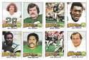 1975 Topps Football Team Set (VG Condition) - PHILADELPHIA EAGLES