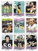 1975 Topps Football Team Set (VG Condition) - PITTSBURGH STEELERS