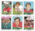 1975 Topps Football Team Set (VG Condition) - SAN FRANCISCO 49ERS