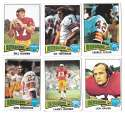 1975 Topps Football Team Set (VG Condition) - WASHINGTON REDSKINS