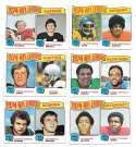 1975 Topps Football (VG Condition) Football League Leaders 6 card subset