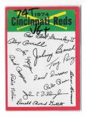 1974 Topps Team Checklist Card VG+ Condition - CINCINNATI REDS