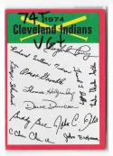 1974 Topps Team Checklist Card VG+ Condition - CLEVELAND INDIANS