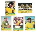1976 Topps C EX Condition - OAKLAND ATHLETICS / As Team Set