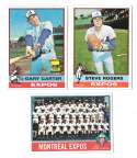 1976 Topps C EX Condition - MONTREAL EXPOS Team Set