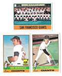 1976 Topps C EX Condition - SAN FRANCISCO GIANTS Team Set
