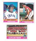 1976 Topps C EX Condition - CLEVELAND INDIANS Team Set