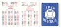 1913 APBA Season - CHICAGO CUBS Team Set
